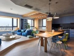 高雄时尚现代开放式公寓设计