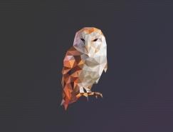 45款低多邊形風格動物logo設計