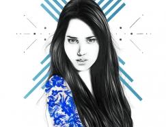 Amanda Mocci人物肖像插画欣赏