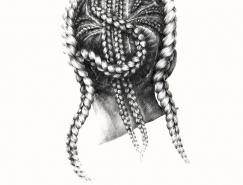 女孩的背影:Marynn铅笔插画欣赏