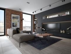 时尚个性的砖墙:2套别致设计的现代家居装修