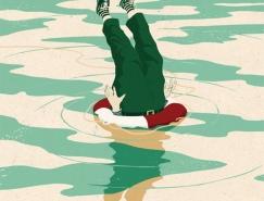 英国插画师Mark Smith杂志插图设计
