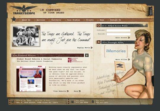 50个国外复古风格的网页设计