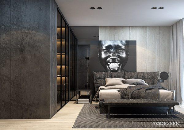 时尚前卫的暗黑系公寓装修设计