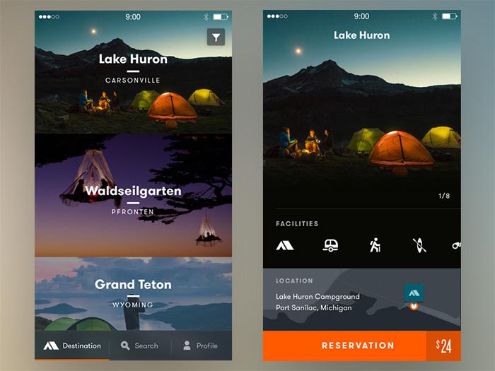20个v路径App路径UI设计欣赏如何用ps沿界面绘制图片