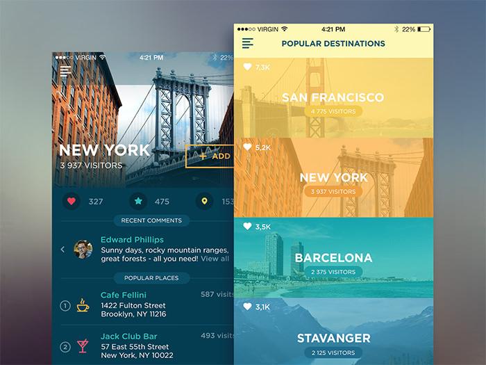 20个国外旅游APP设计