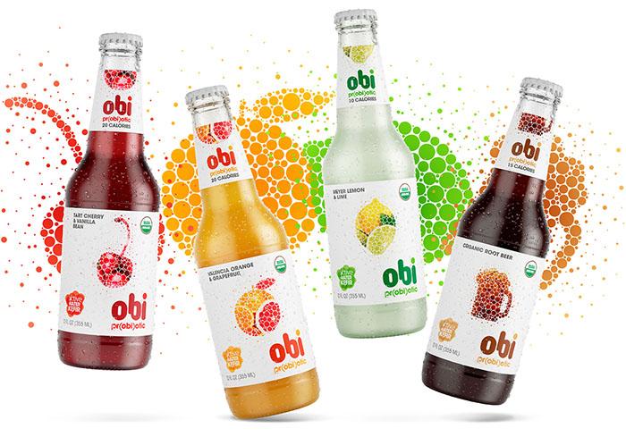 Obi Pr(obi)otic果汁包装设计