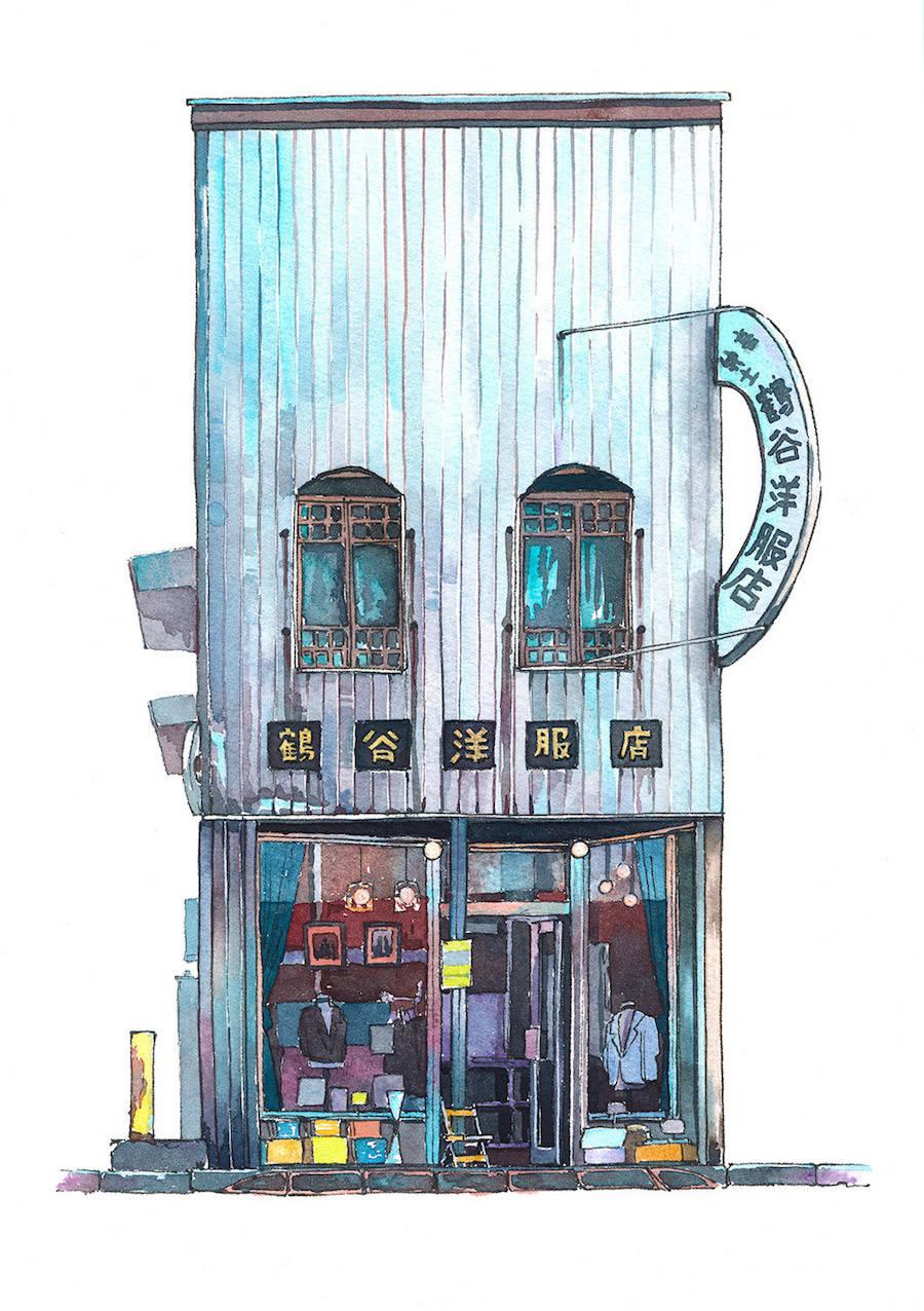 Mateusz Urbanowicz东京店面插图设计