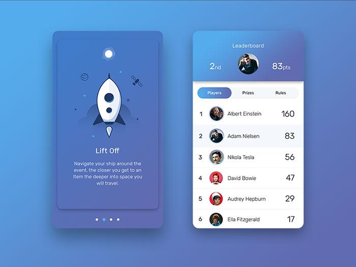 30个国外手机UI界面设计欣赏