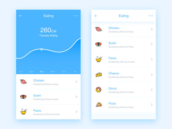 国外卡片式UI界面设计