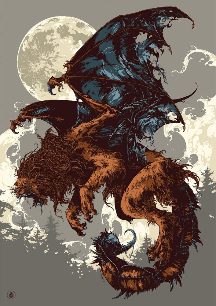 神话动物插画欣赏