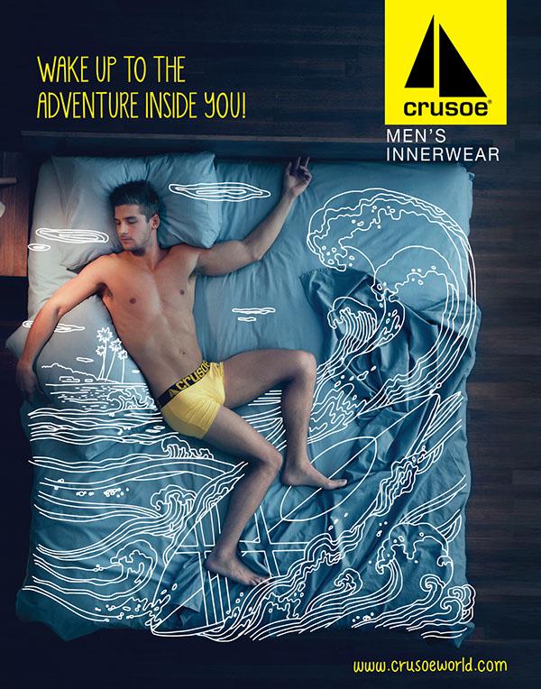 一个充满想象力的男士内裤海报设计