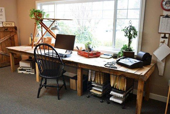 室木质工作台设计