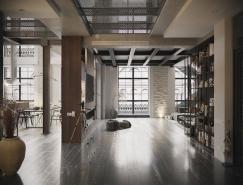 2个工业风格时尚Loft住宅设计