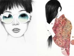 Kirill Hohlov女性肖像鉛筆畫欣賞
