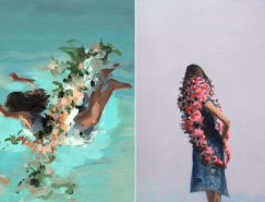 看不见面容的女孩:Clare Elsaesser绘画作品欣赏