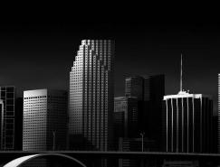 Dennis Ramos静谧的黑白建筑
