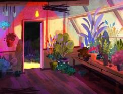 Juliette Oberndorfer神秘梦幻的森林插画欣赏