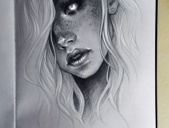 Sasha Alekseeva手绘人物肖像插画