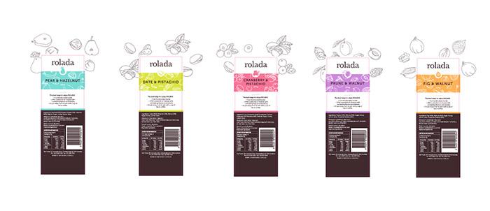 手绘风格的rolada果酱包装设计