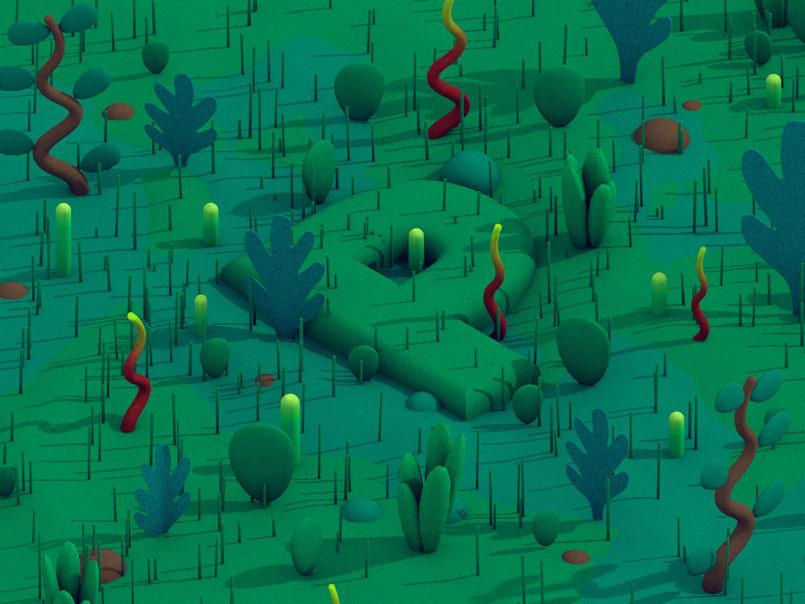Stuart Wade创意3D字体插画设计