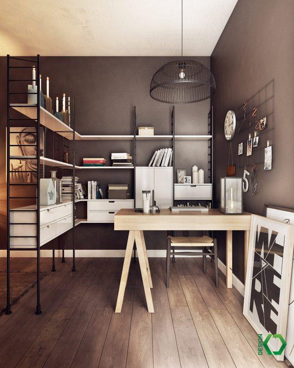 35 Modern Home Office Design Ideas: 极简主义北欧风格家居装修设计