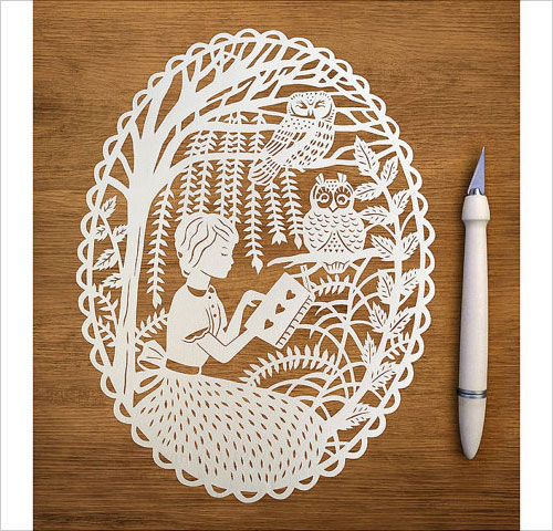 sarah trumbauer创意手工剪纸艺术作品