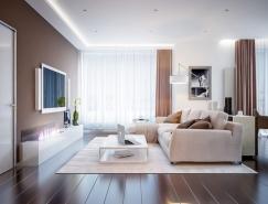温馨淡雅的天然中性色彩为基调的家居装修设计