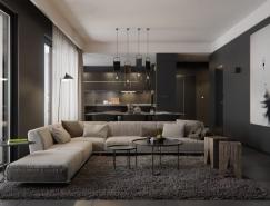 6个暗黑色调家居装修设计