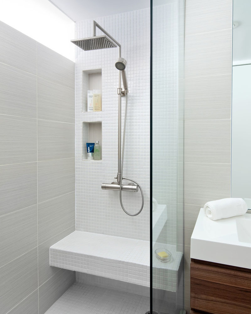 Bathroom Tile Design Ideas Best Modern Gates On Pinterest: ō�生间收纳创意:淋浴房精致的壁龛设计