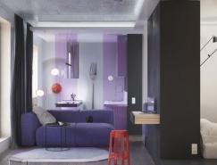 大胆的色彩主题:创意小公寓装修设计