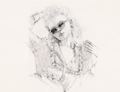 细腻的点画:Natalia Bivol女性肖像铅笔画作品