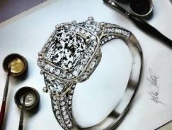 Helena Rochah超逼真钻石和宝石手绘作品