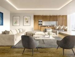 木制品和灰色系的简约风格家居装修设计