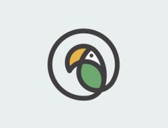 標誌設計元素運用實例:鸚鵡(3)