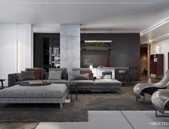 古典纹饰点缀的基辅豪华现代公寓装修皇冠新2网