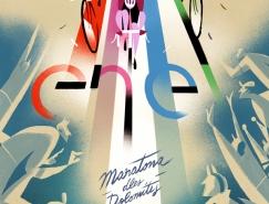 Riccardo Guasco创意自行车运动插画设计