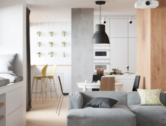 简洁明快的三居室复式公寓设计