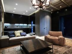 温馨工业风的基辅小公寓设计