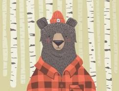 呆萌可爱的熊插画欣赏