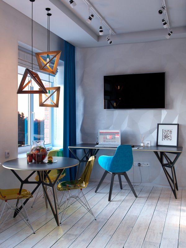 大胆的装修风格:3个小公寓装修设计