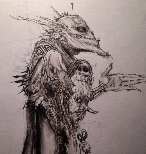 40张手绘超现实主义插画作品