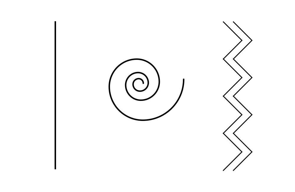 线条的风格表现在线的宽窄样式和线的平直弯曲,这些形态上的变化,可以演绎出谨慎严肃,也能释放某种率性天真。 纤细的线 如下面导航中的细细的水平线,表达一种稳定精致的感受。目前在网页设计中也非常受欢迎,这类线条比较简洁,能和任何前景背景都混为一片,丰富细节又能引导用户的视觉方向。  常见在导航和按钮的设计里,扁平化传递某种精致感,首选是细细的直线,不夹杂私欲,有点冷淡的矜持。  粗壮的线 较粗的直线,表达出一种稳定,稍微会引发紧张,放在文字下方有强调的作用。这其实是因为它能诱发你去依傍一个大只佬,由此带来的