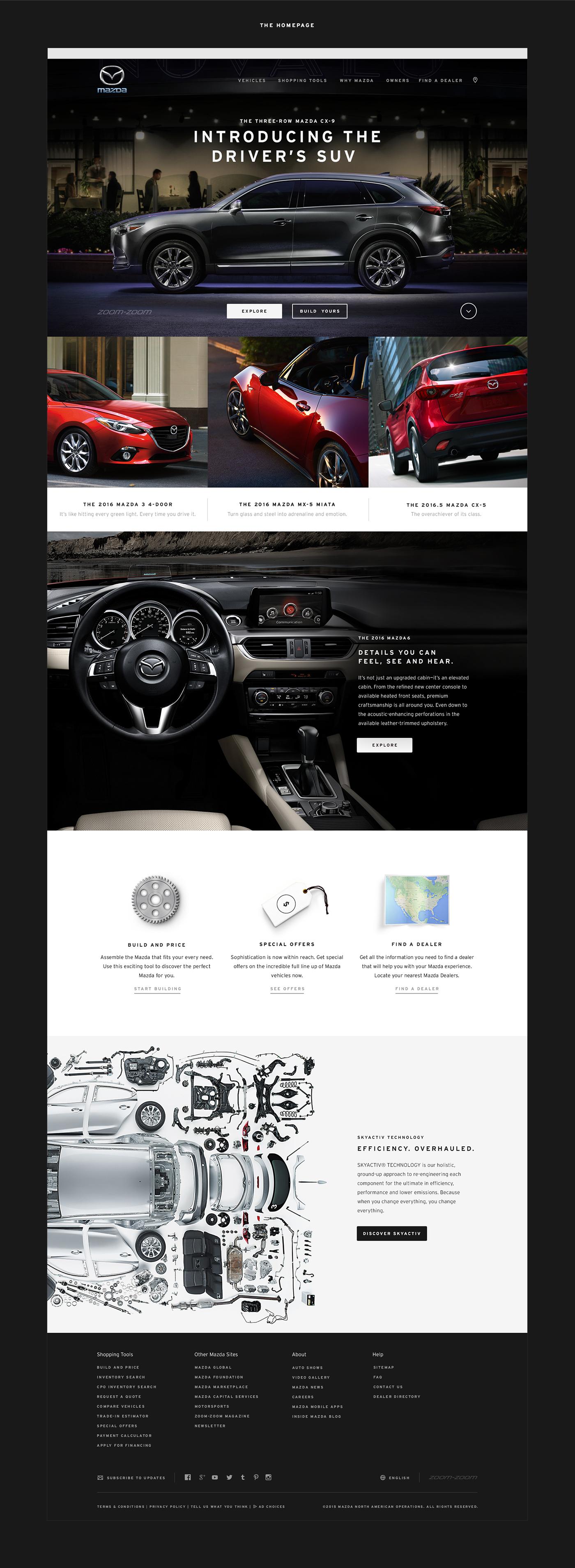 Mazda美国网页UI设计