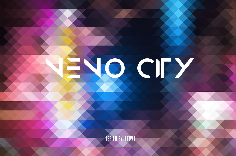 轻松打造城市霓虹马赛克背景效果