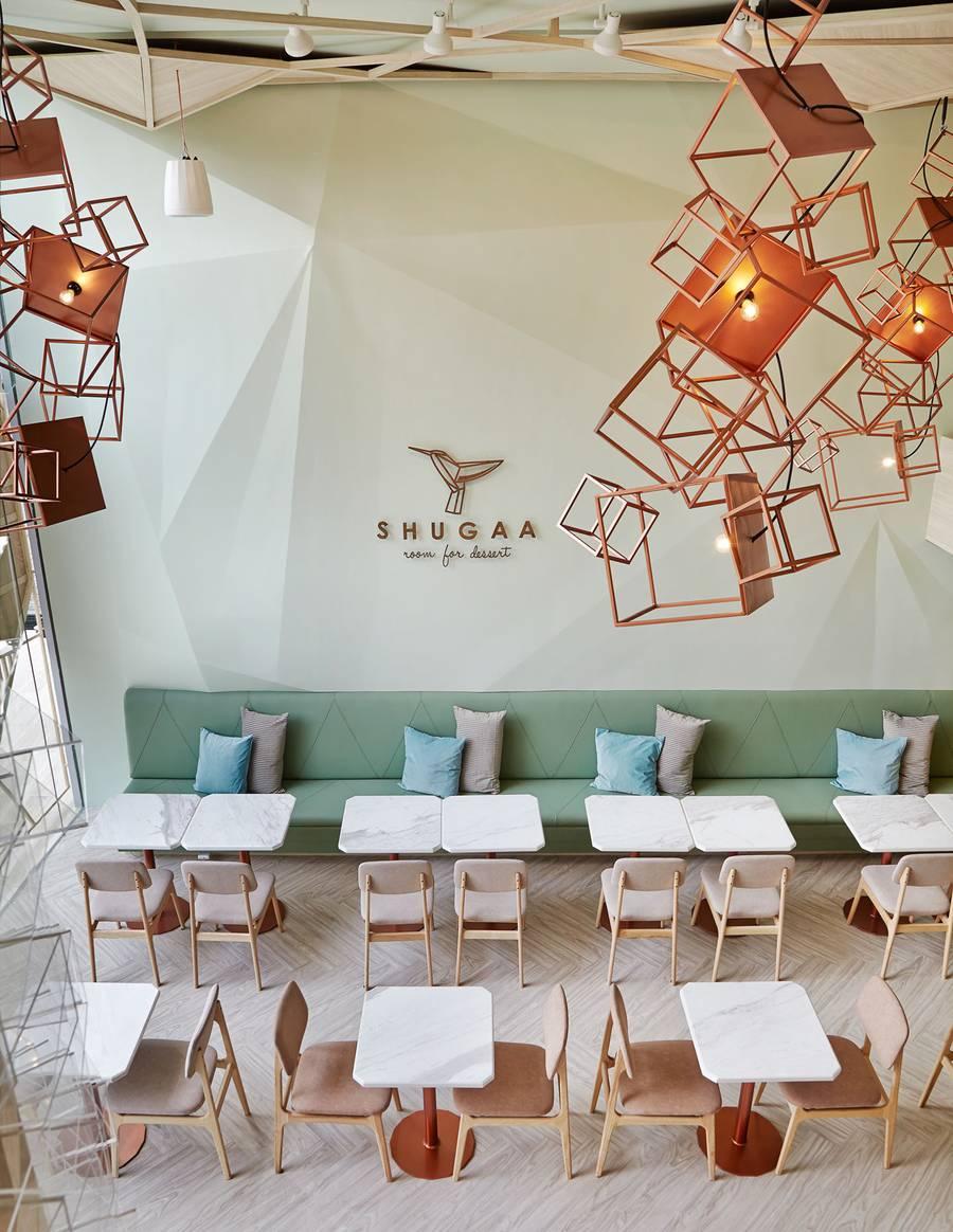 曼谷shugaa甜品店空间设计