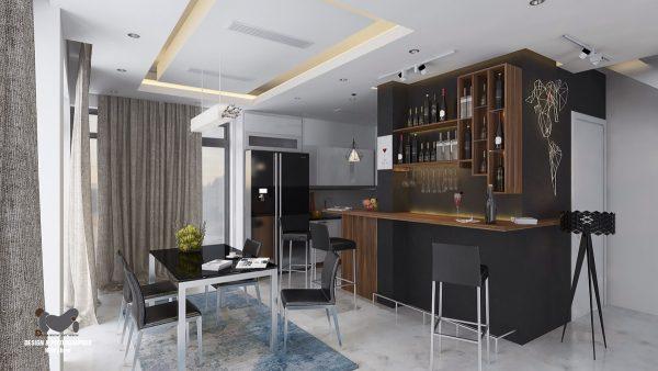 家装中创意酒柜装修设计欣赏