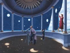 Rob Gonsalves魔幻现实主义风格视错觉插画欣赏