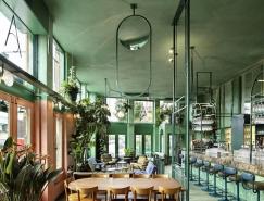 阿姆斯特丹热带雨林般自然气息的餐厅设计