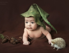 兒童攝影技巧:暗調嬰兒攝影構思分析